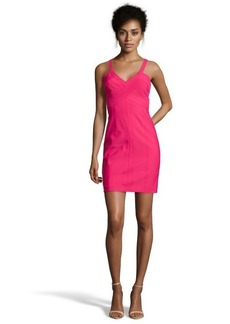 Laundry by Shelli Segal paradise pink stretch sleeveless cutaway travel dress