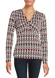 LAUNDRY BY SHELLI SEGAL Patterned Knotted Top