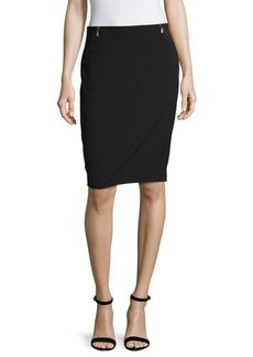 Laundry by Shelli Segal Pencil Skirt w/Double Zip Details