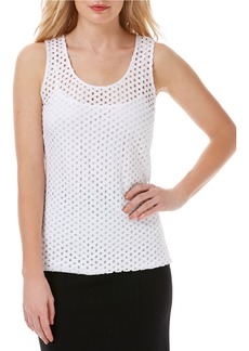 LAUNDRY BY SHELLI SEGAL Perforated Tank Top