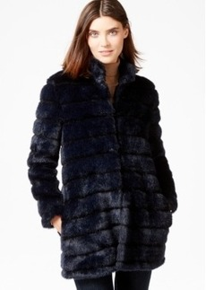 Laundry by Shelli Segal Petite Ribbed Faux-Fur Coat