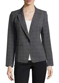 Laundry by Shelli Segal Plaid Jacket with Turn-Lock Front