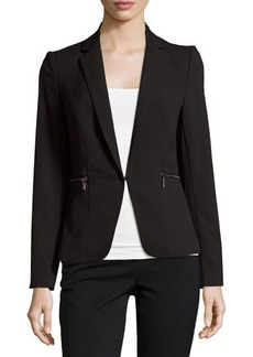 Laundry by Shelli Segal Pleated-Back Jacket with Zip Pockets