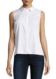 Laundry by Shelli Segal Pleated-Back Sleeveless Blouse