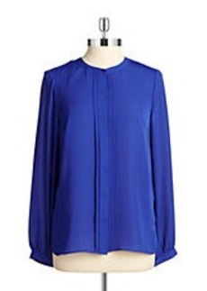 LAUNDRY BY SHELLI SEGAL Pleated Button-Front Blouse