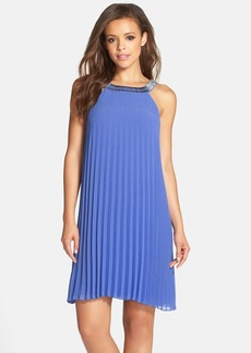 Laundry by Shelli Segal Pleated Chiffon Dress