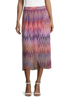 Laundry by Shelli Segal Pleated Printed Tulip Skirt, Hibiscus/Multi