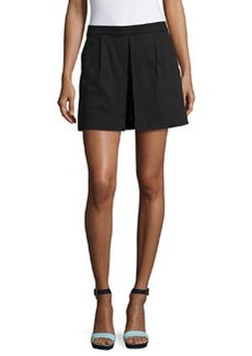 Laundry by Shelli Segal Pleated Side-Zip Skort, Black