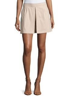 Laundry by Shelli Segal Pleated Side-Zip Skort, Oxford Tan