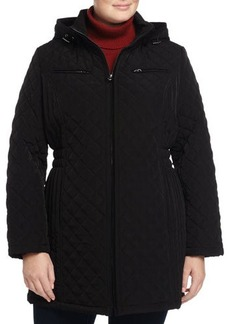 Laundry by Shelli Segal Plus Quilted Hooded Coat