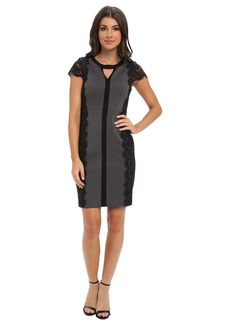 Laundry by Shelli Segal Ponte and Lace Dress