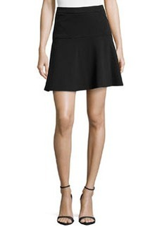 Laundry by Shelli Segal Ponte Flounce Skirt, Black