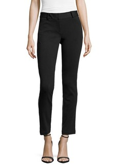 Laundry by Shelli Segal Ponte/Faux-Leather Skinny Pants