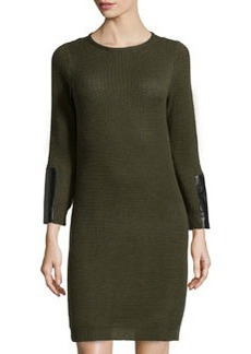 Laundry by Shelli Segal Popcorn Knit Sweaterdress, Green