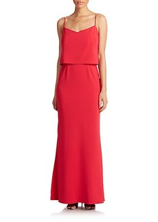 Laundry by Shelli Segal Popover Crepe Gown