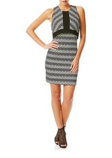 LAUNDRY BY SHELLI SEGAL Popover Patterned Dress