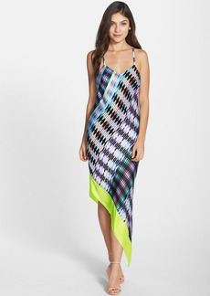 Laundry by Shelli Segal Print Asymmetrical Slipdress