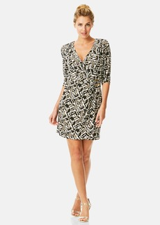 Laundry by Shelli Segal Print Jersey Faux Wrap Dress (Regular & Petite)