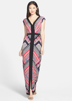 Laundry by Shelli Segal Print Jersey Maxi Dress (Regular & Petite)