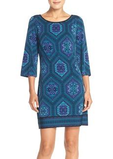 Laundry by Shelli Segal Print Jersey Shift Dress (Regular & Petite)
