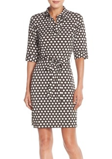 Laundry by Shelli Segal Print Jersey Shirtdress