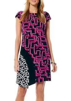 Laundry by Shelli Segal Print Matte Jersey A-Line Dress