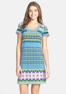 Laundry by Shelli Segal Print Matte Jersey Shift Dress (Petite)