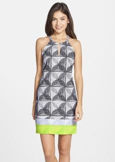 Laundry by Shelli Segal Print T-Back Shift Dress