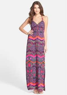 Laundry by Shelli Segal Print Twill Maxi Dress