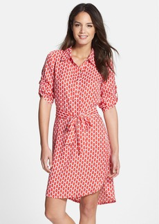 Laundry by Shelli Segal Print Twill Shirtdress (Regular & Petite)