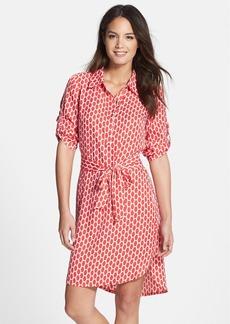 Laundry by Shelli Segal Print Twill Shirtdress (Regular & Petite)