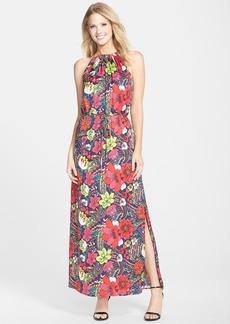 Laundry by Shelli Segal Print Woven Blouson Maxi Dress