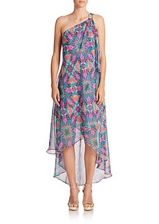 Laundry by Shelli Segal Printed Asymmetrical One-Shoulder Dress