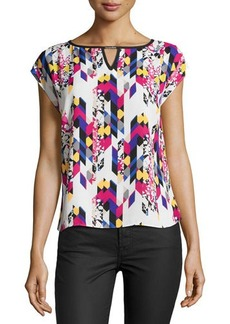 Laundry by Shelli Segal Printed Cap-Sleeve Blouse