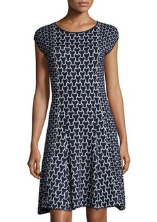 Laundry by Shelli Segal Printed Cap-Sleeve Sweaterdress