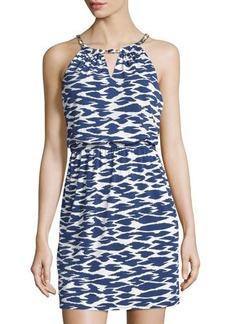 Laundry by Shelli Segal Printed Chain-Neck Sleeveless Dress