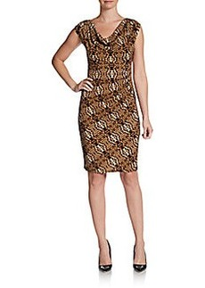 Laundry by Shelli Segal Printed Cowlneck Dress