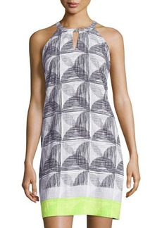 Laundry by Shelli Segal Printed Halter Shift Dress