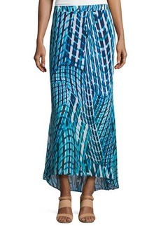 Laundry by Shelli Segal Printed High-Low Maxi Skirt