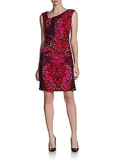 Laundry by Shelli Segal Printed Jersey Cap-Sleeve Dress