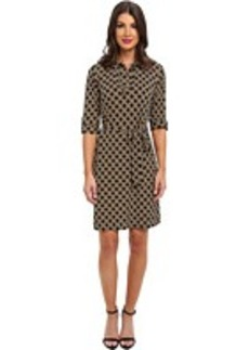 Laundry by Shelli Segal Printed Jersey Dress w/ Collar