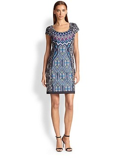 Laundry by Shelli Segal Printed Neoprene Dress