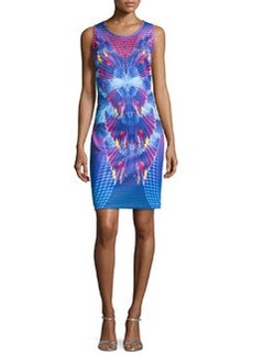 Laundry by Shelli Segal Printed Neoprene Tank Dress, Island Multi