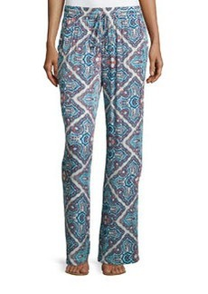 Laundry by Shelli Segal Printed Palazzo Pants, True Blue/Multi