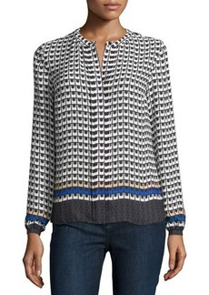 Laundry by Shelli Segal Printed Pleated-Front Blouse