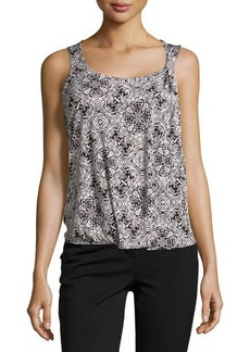 Laundry by Shelli Segal Printed Stretch-Knit Tank