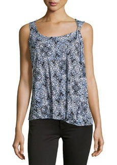 Laundry by Shelli Segal Printed Stretch-Knit Tank, Palace Blue