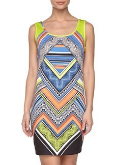 Laundry by Shelli Segal Printed Tank Dress, Palace Blue Multi
