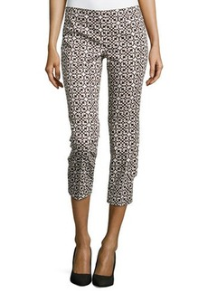 Laundry by Shelli Segal Printed Twill Cropped Pants