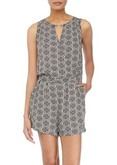 Laundry by Shelli Segal Printed Wrap-Front Romper